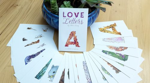 The Love Letters Book +26 Postcard Set