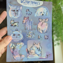 """Distortimals"" sticker sheet of 12"